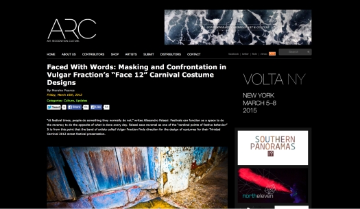 Arc Magazine, Vulgar Fraction 2012